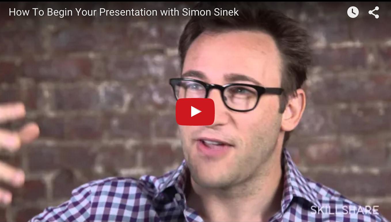 Simon Sinek on Beginning Your Talk
