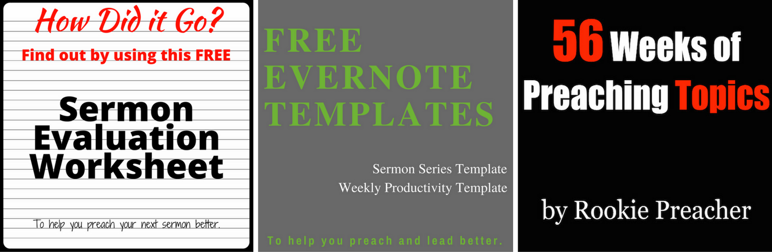 How to Format Your Sermon Notes to Look at Them Less (Plus Free ...