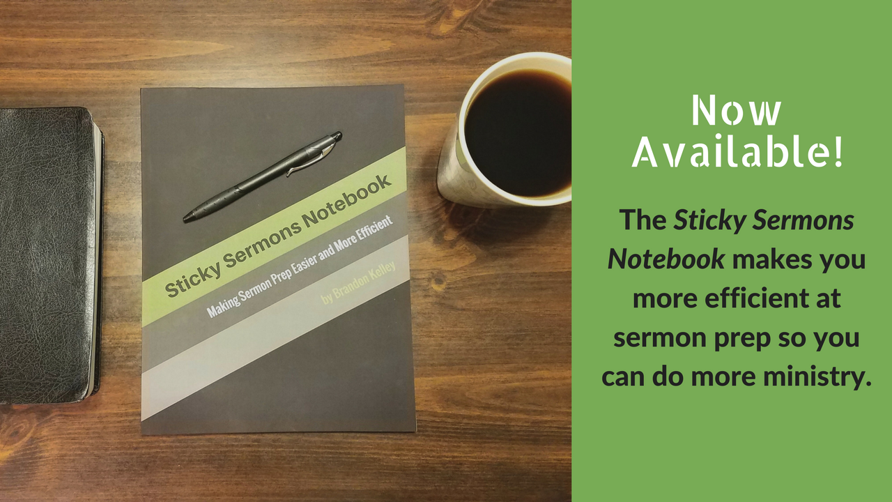 Sticky Sermons Notebook is Now Available