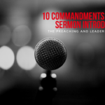 10 Commandments of a Great Sermon Introduction