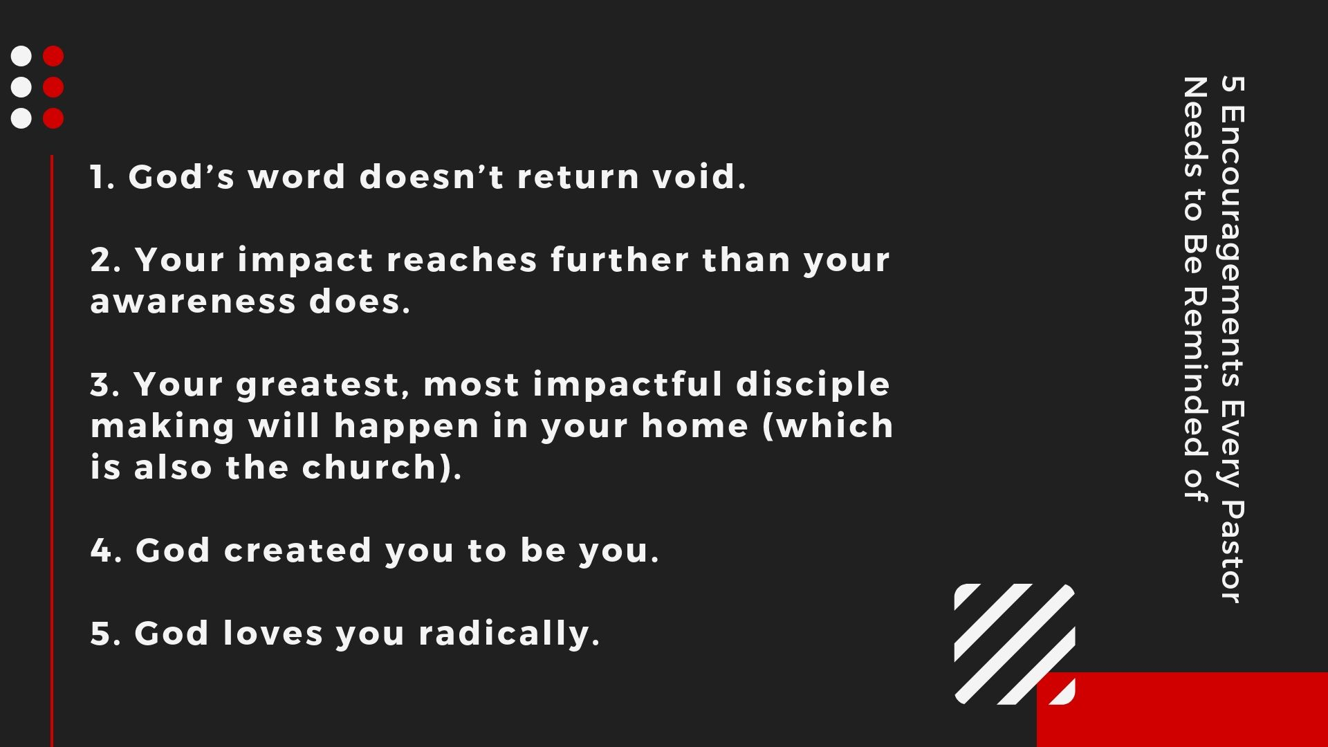 5 Encouragements Every Pastor Needs to Be Reminded of